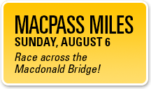 Macpass Miles - Run across the Macdonald Bridge!
